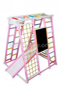 Plac zabaw wewnętrzny BAMBINO 8 sosna Babyplay Różowy