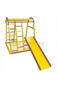 Plac zabaw wewnętrzny KIDDY 3 sosna żółty