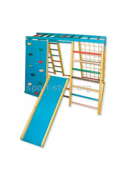 Plac zabaw zewnętrzny BAMBINO 19 Maxi sosna ścianka kolor