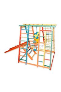 Plac zabaw zewnętrzny BAMBINO 9 Babyplay Tęcza