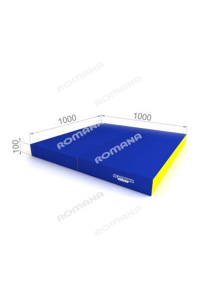 Materac gimnastyczny składany 100x100x10