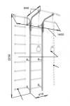 Drabinka gimnastyczna przyścienna ROMANA S5