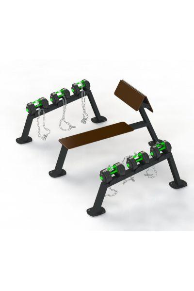 Zestaw ławka + hantle SZ-1611